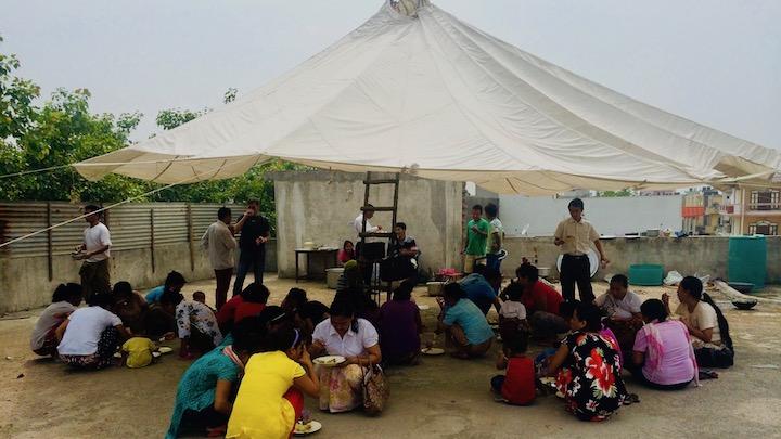 Библейская школа для бирманских беженцев в Дели